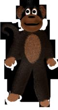 Skinny monkey furry